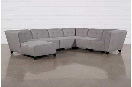 Benton III 6 Piece Sectional With Left Arm Facing Chaise