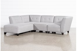 "Benton III 4 Piece 101"" Sectional With Left Facing Bumper Chaise"