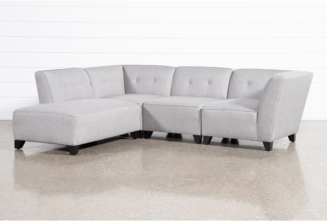 Benton III 4 Piece Sectional With Left Facing Bumper Chaise - 360