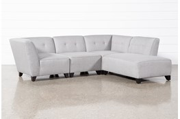 Benton III 4 Piece Sectional With Right Facing Bumper Chaise