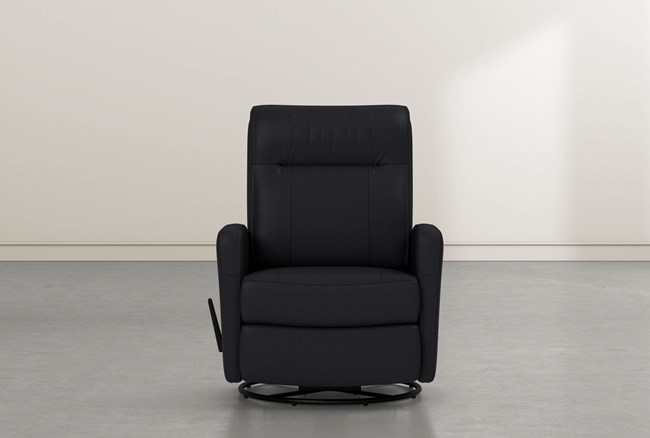 Dale IV Leather SwIvel Glider Recliner - 360
