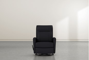 Dale IV Leather SwIvel Glider Recliner