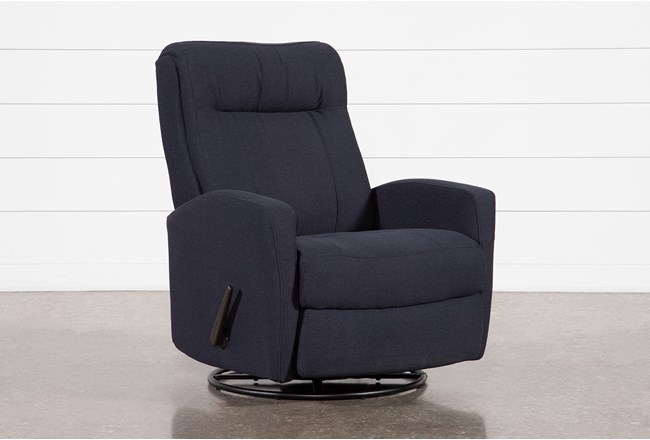 Dale IV Fabric Swivel Glider Recliner - 360