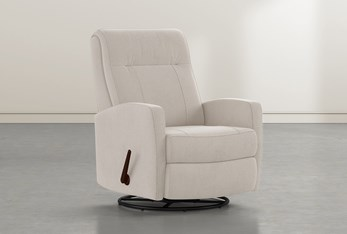 Dale IV Taupe Fabric Swivel Glider Recliner