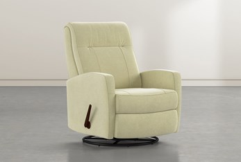 Dale IV Spring Fabric Swivel Glider Recliner