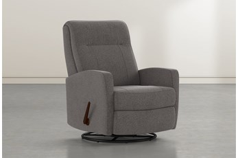 Dale IV Bark Fabric Swivel Glider Recliner
