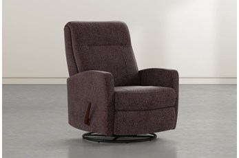 Dale IV Coffee Fabric Swivel Glider Recliner