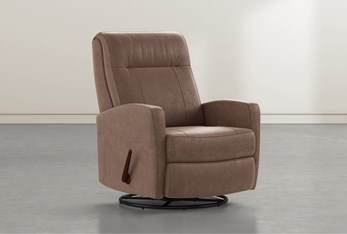 Dale IV Brown Fabric Swivel Glider Recliner