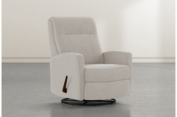 Dale IV Linen Fabric Swivel Glider Recliner