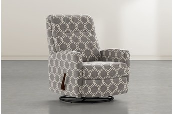 Dale IV Dove Fabric Swivel Glider Recliner