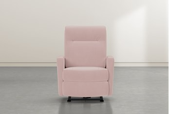 Dale IV Pink Fabric Power Wallaway Recliner