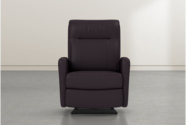 Dale IV Chocolate Leather Power Rocker Recliner