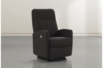 Dale IV Flint Fabric Power Rocker Recliner With Power Headrest