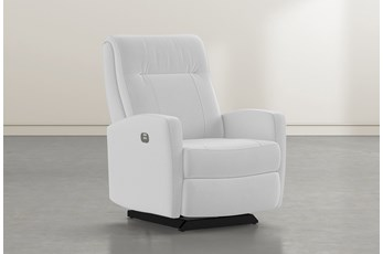 Dale IV Grey Fabric Power Rocker Recliner With Power Headrest
