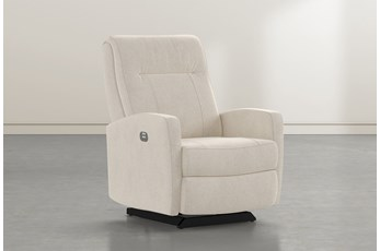 Dale IV Stone Fabric Power Rocker Recliner With Power Headrest