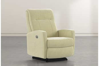 Dale IV Spring Fabric Power Rocker Recliner With Power Headrest