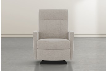 Dale IV Linen Fabric Power Rocker Recliner With Power Headrest