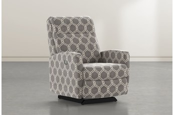 Dale IV Dove Fabric Power Rocker Recliner With Power Headrest