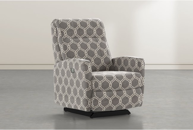 Dale IV Dove Fabric Power Rocker Recliner With Power Headrest - 360