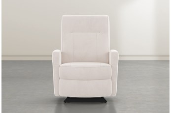 Dale IV Ivory Fabric Power Rocker Recliner With Power Headrest
