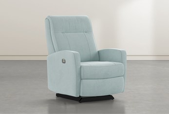 Dale IV Spa Fabric Power Rocker Recliner With Power Headrest
