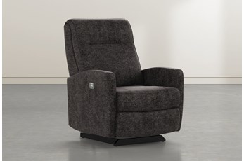 Dale IV Midnight Fabric Power Rocker Recliner With Power Headrest