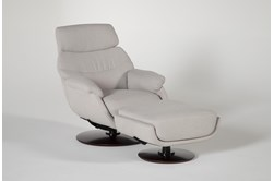 Liddy Swivel Glider Accent Chair & Ottoman