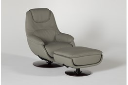 Lyn Swivel Glider Accent Chair & Ottoman