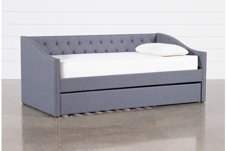 Lorra Upholstered Daybed With Trundle