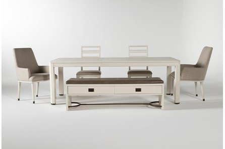 Centre 6 Piece Extension Dining Set With Side And Arm Chairs By Nate Berkus And Jeremiah Brent - Main