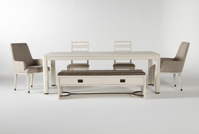 Centre 6 Piece Extension Dining Set With Side And Arm Chairs By Nate Berkus And Jeremiah Brent - 360