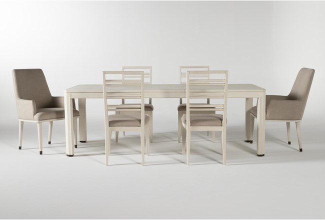 Centre 7 Piece Extension Dining Set With Side And Arm Chairs By Nate Berkus And Jeremiah Brent - 360