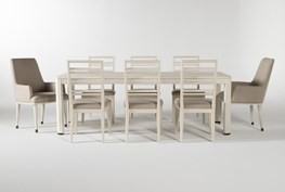 Centre 9 Piece Extension Dining Set With Side And Arm Chairs By Nate Berkus And Jeremiah Brent