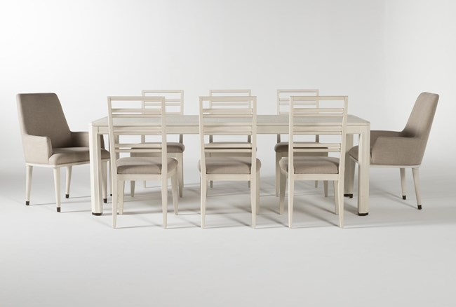 Centre 9 Piece Extension Dining Set With Side And Arm Chairs By Nate Berkus And Jeremiah Brent - 360