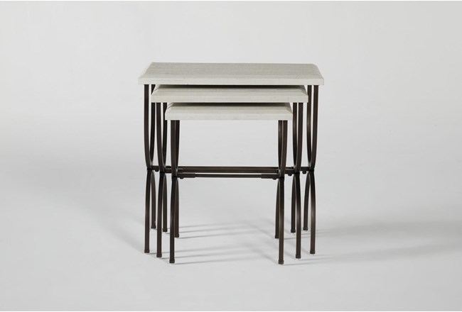 Centre Nesting Accent Tables With Metal Legs By Nate Berkus And Jeremiah Brent - 360