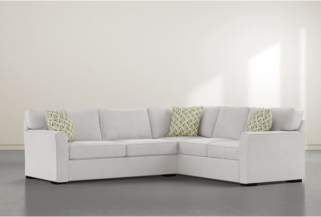 """Aspen Sterling Foam 2 Piece 108"""" Sectional With Left Arm Facing Condo Sofa - 360"""