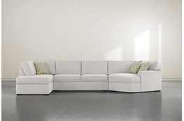 "Aspen Sterling Foam 3 Piece 163"" Sectional With Left Arm Facing Armless Chaise"