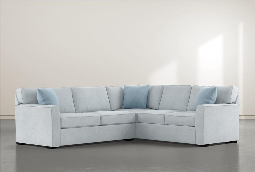 Aspen Tranquil Foam 2 Piece Sectional With Left Arm Facing Condo Sofa