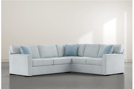 Aspen Tranquil Foam 2 Piece Sectional With Left Arm Facing Condo Sofa