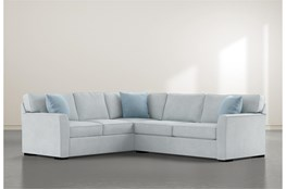 """Aspen Tranquil Foam 2 Piece 108"""" Sectional With Right Arm Facing Condo Sofa"""