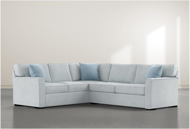 """Aspen Tranquil Foam 2 Piece 108"""" Sectional With Right Arm Facing Condo Sofa - 360"""