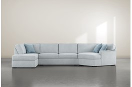 Aspen Tranquil Foam 3 Piece Sectional With Left Arm Facing Armless Chaise