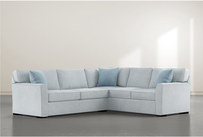 Aspen Tranquil Foam 3 Piece Sectional With Right Arm Facing Armless Chaise - 360