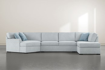 """Aspen Tranquil Foam 3 Piece 163"""" Sectional With Right Arm Facing Armless Chaise"""
