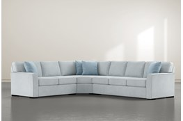 "Aspen Tranquil Foam 3 Piece 125"" Sectional With Right Arm Facing Sofa"
