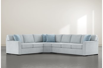 """Aspen Tranquil Foam 3 Piece 125"""" Sectional With Right Arm Facing Sofa"""
