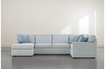 "Aspen Tranquil Foam 3 Piece 134"" Sectional With Left Arm Facing Chaise"