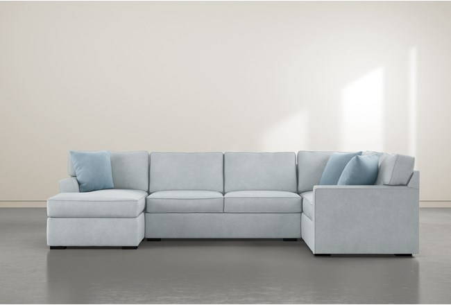 Aspen Tranquil Foam 3 Piece Sectional With Left Arm Facing Chaise - 360