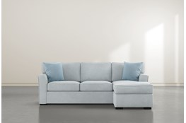 "Aspen Tranquil Foam 93"" Sofa With Reversible Chaise"