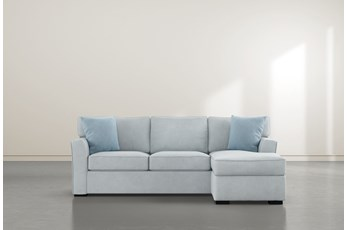"""Aspen Tranquil Foam 93"""" Sofa With Reversible Chaise"""